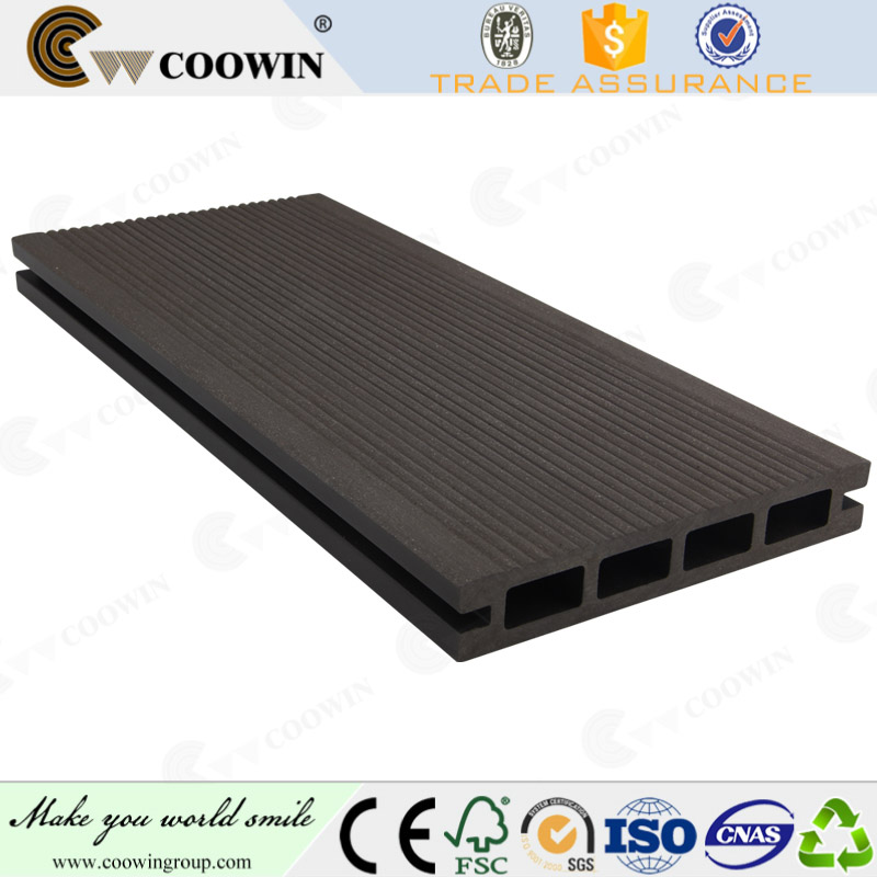 pwc composite 3d embossing patio fireproof wood plastic composite decking