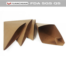 Compostable disposable cone chip box with food grade paper