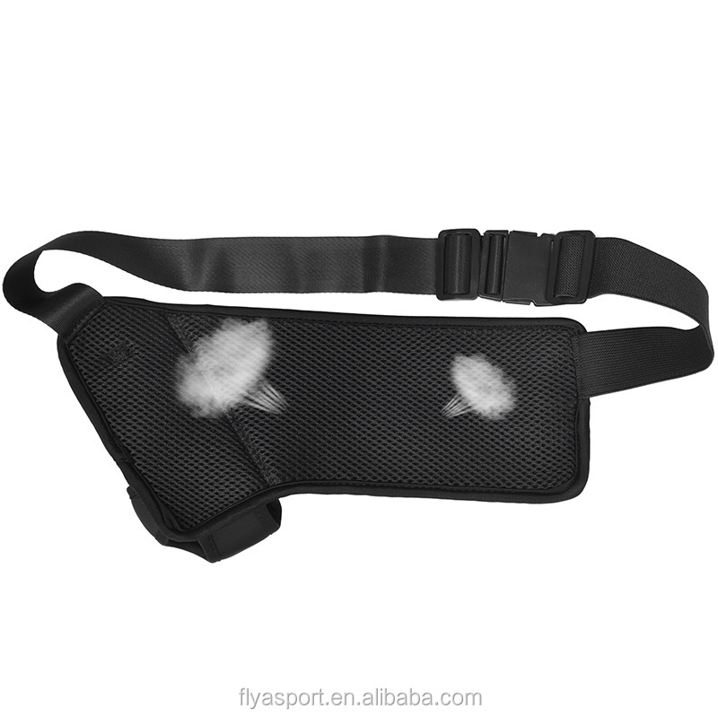 OEM custom design fanny pack polyester waterproof waist pack with water bottle holder