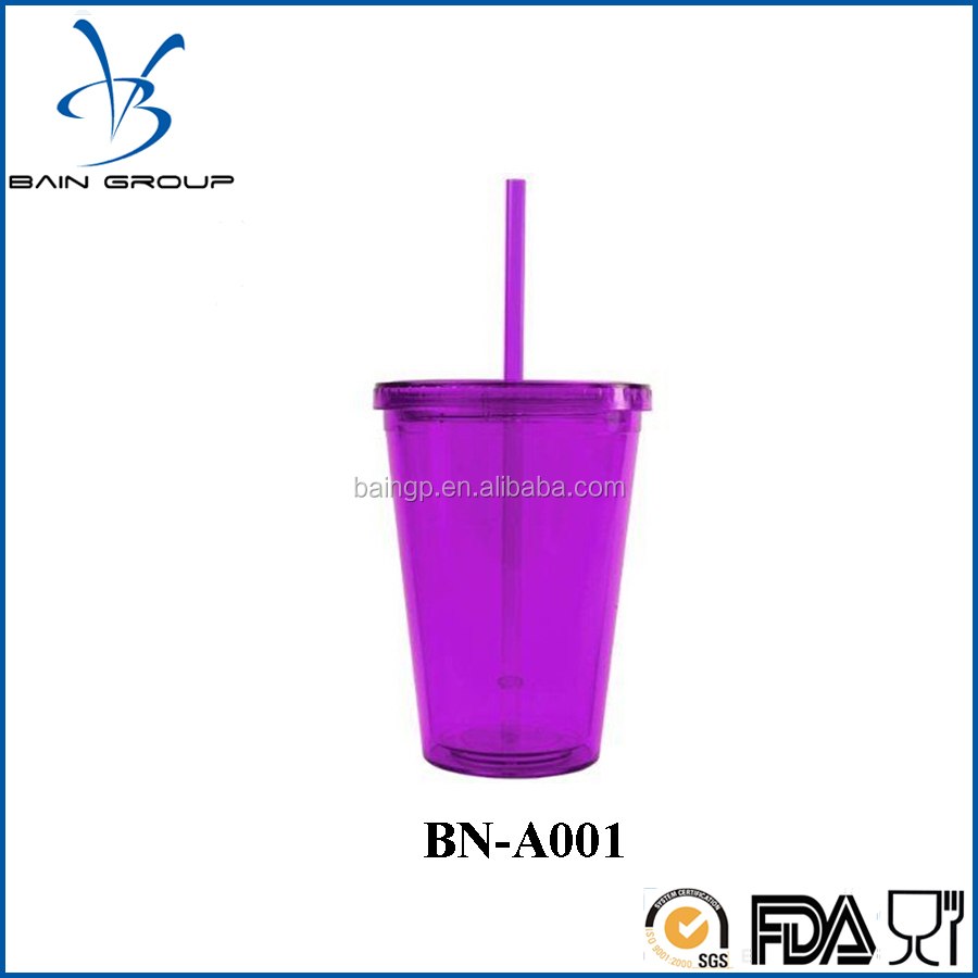 Acrylic Tumbler with Removable Insert and Straw
