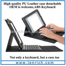 LBK101 Leather Case + wireless Bluetooth Keyboard for iPad 2 3 the new pad stand bag detachable ABS keyboard
