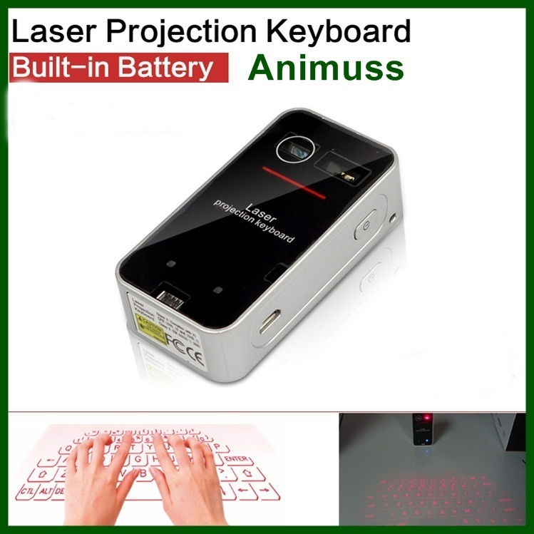 Mini portable Virtual Laser Projection keyboard and mouse for Android for iPhone mobile phone Tablet