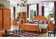 American solid wood child bed room furniture bedroom set A2602-2603