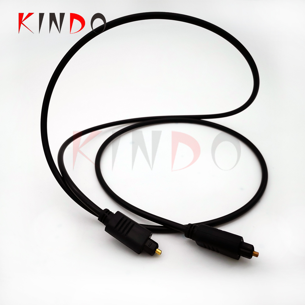 KINDO Plastic optical audio toslink fiber optic cable 24K Gold Plated Ultra Durable Fiber Optic cable