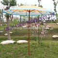 180cm wood printing outdoor coffe umbrella YN7001