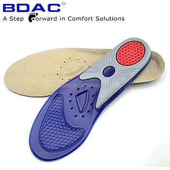 dual color gel TPR sheet support sport insole high impact gel insoles