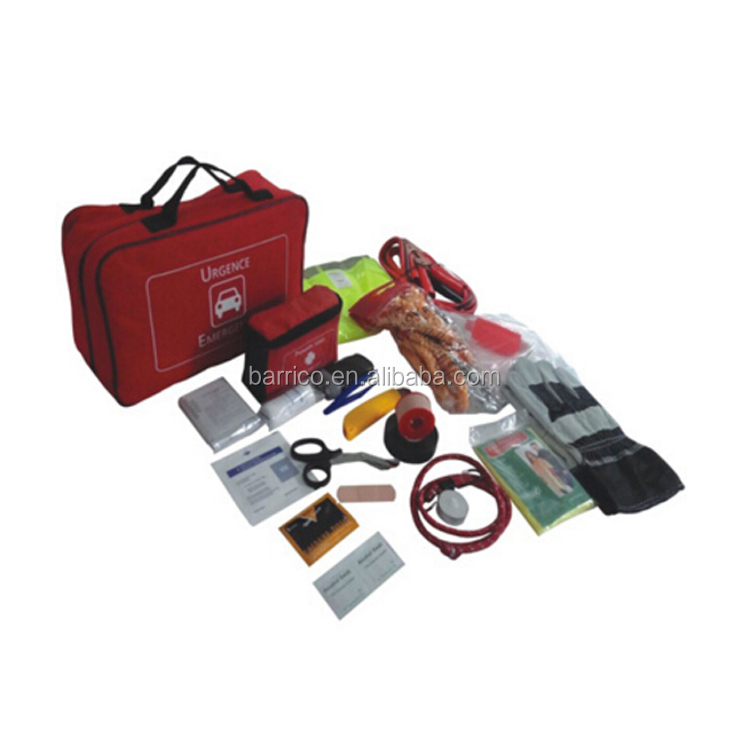 BLG-B0358 Auto Road Emergency First Aid Kit with Red color