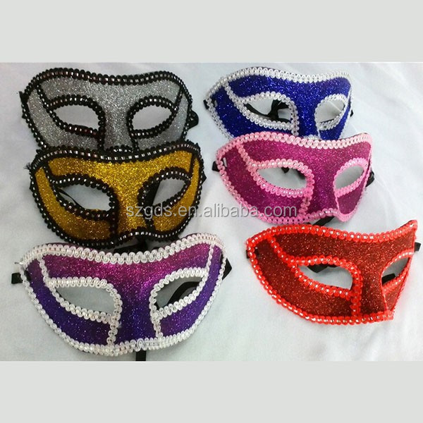 Supply Christmas carnival venice funny masquerade mask charming half face glitter party mask
