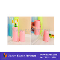 Plastic Custom toothbrush toothpaste travel case
