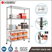Hot Sale 4 Tiers Chrome Metal Wire File Rack for Office Storage