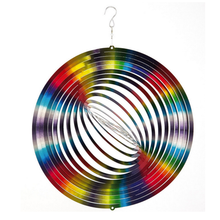 High Quality Decoration Chime Stainless Steel Wholesale 3D Round Circles Wind Spinner