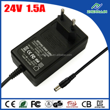 36W Delta Electronics Inc AC Adapter 24V 1.5A DC Power Supply With CE KC