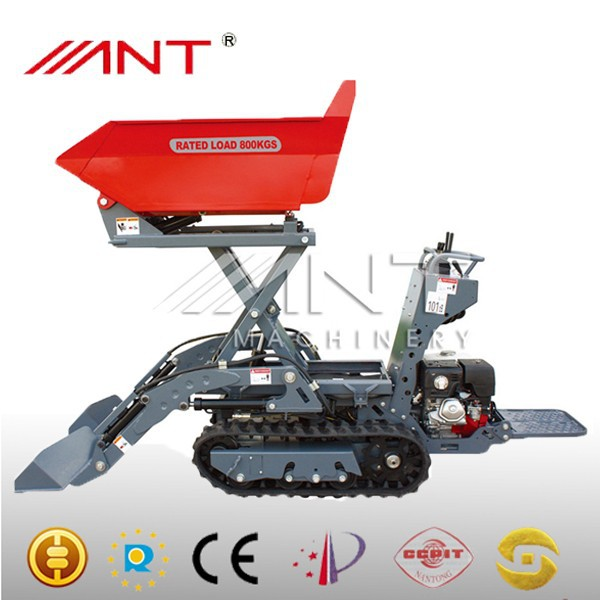 BY800 foton mini dump truck electric wheelbarrow mini dump rubber mini tracked dumper