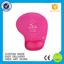 Promotional logo printed red color mouse pad custom