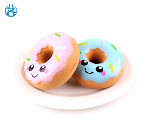 New soft pu foam kawaii rare slow rising scented donut kids toy squishy