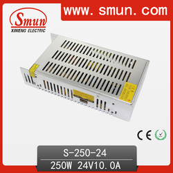 250W 24V 10A Enclosed Power Supply With Full Protections