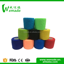 Strong fabric nonwoven cohesive custom adhesive wrist bandage