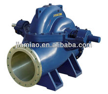 big capacity high efficiency split case double suction centrifugal Fan pump,low pulse impeller Feed Pulp Pump