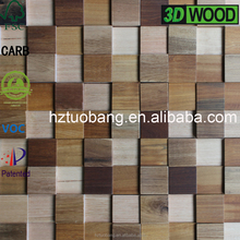 Designed 3D solid wood wall panelling
