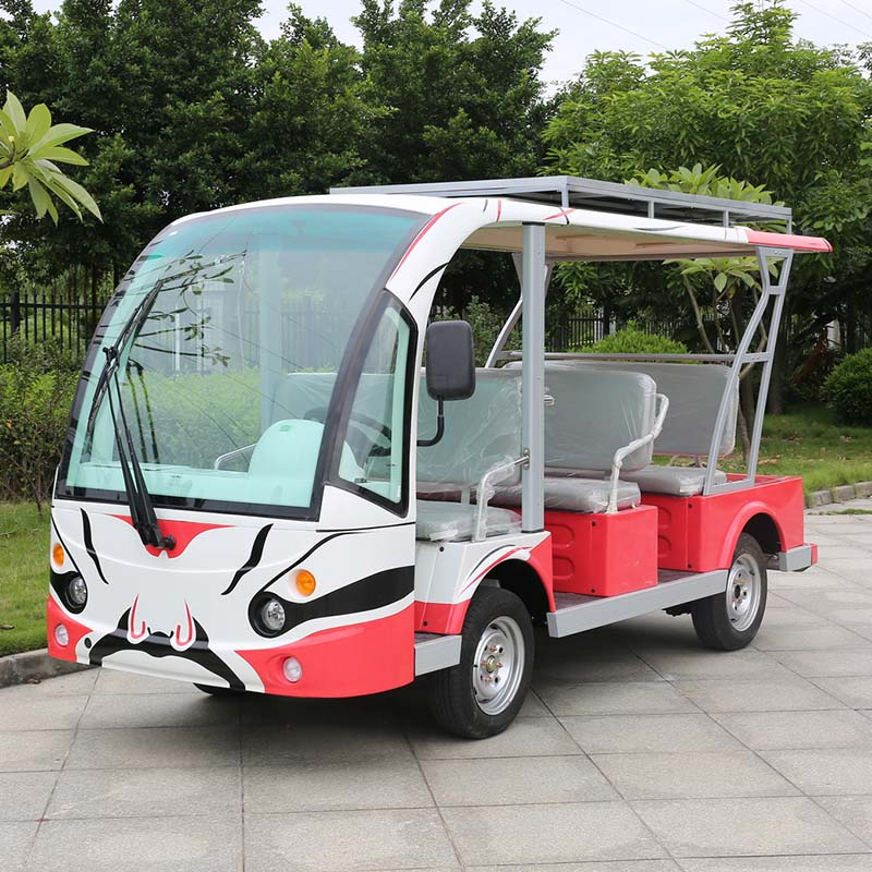 8 Seater electric mini bus with good price for sale DN-8F with CE certificate from China