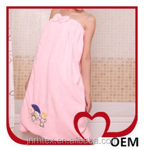Fashion soft feeling 100 cotton terry bath towel skirt made in china