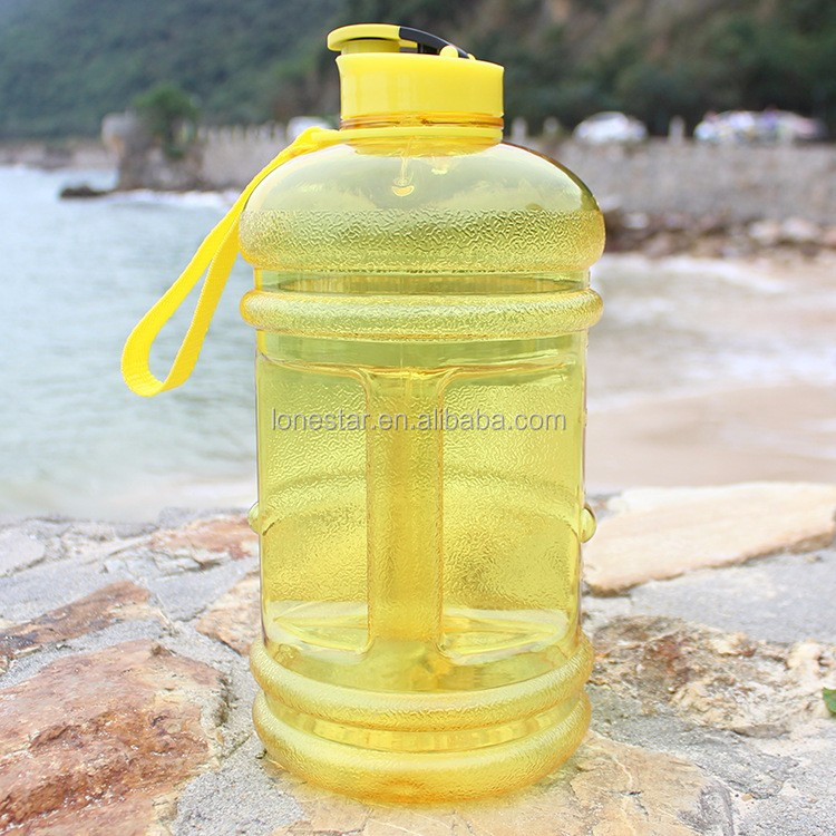 2017 high quality 2.2L water bottle with Plastic small mouth BPA FREE custom logo 2.2l petg water bottle