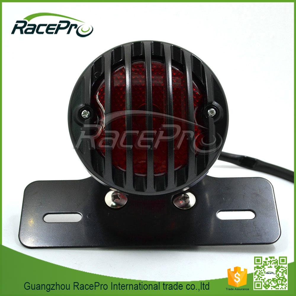 LED Tail Light and Brake Light License Plate Bracket Tag Relocator for Harley Bobber Chopper