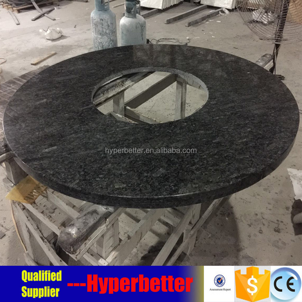 Fire pit table with granite table top
