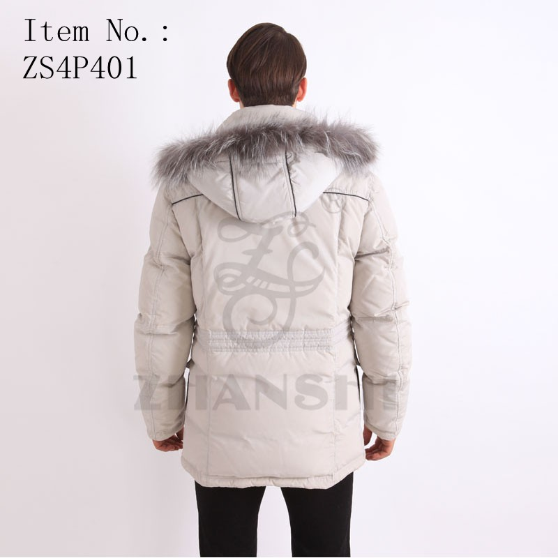 winter fashional waterproof and windproof padded parkajacket with hood