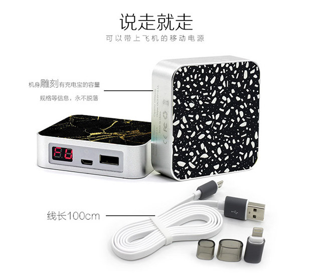 character design portable 6600mah 100% true capacity power bank for smartphone for iphone external power bank