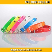 50pcs Cute metal rivet TPU dog cat collar waterproof dog collar pet products high quality wholesale or retail sales promotion