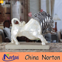 Modern lovely home decoration table resin cow statue wedding decor NTRS-AD009A