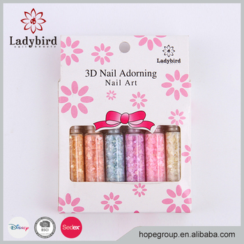 Lastest wholesale beautiful nail art shell powder nail decoration