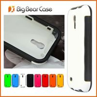 Full protection wooden leather case for samsung galaxy s4 mini fli