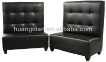 cheap price restaurant furniture black pu leather restaurant bench seati diner booth