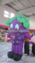 Outdoor EN71 inflatable purple grapes mascot costume