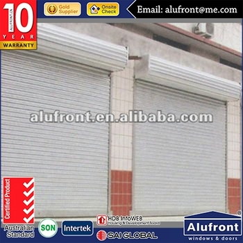 Roller shutter with lock for storage