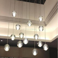 CASAMOTION Vintage Globe Clear Hand Blown Art Glass Pendant Light Ceiling Lamp
