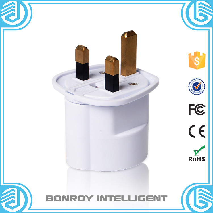 custom factory uk type 13a 3 pin flat electrical plug to eu round jacks multi function plug adaptor for uk eu