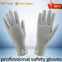 INTERLOCK FINGER style customized China pvc dotted white cotton gloves