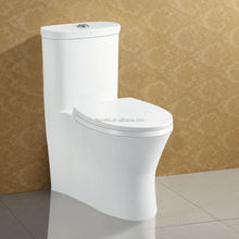 Soft Closing Seat Cover Ceramic One Piece S Trap Bathroom Toilet
