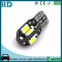 Hot sell car accessories product AC10-30V w5w t10 5630 5730 led 8smd canbus led T10 interior lighting car led lights