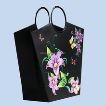 Flowers Multi-color Paper Bags For Shopping