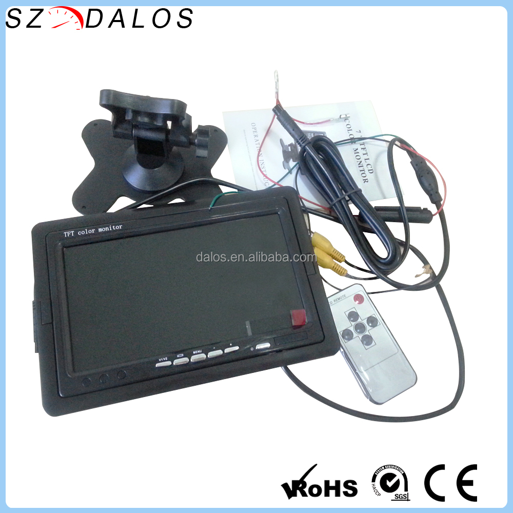 Cheap Rear-View Dual-Input super digital car standalone tft monitor video 7