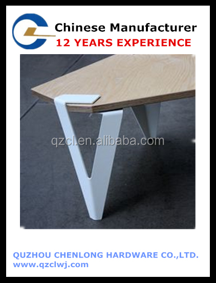 angular tabletops sports folder sheet metal legs that grip any 90 or 120 degree corners