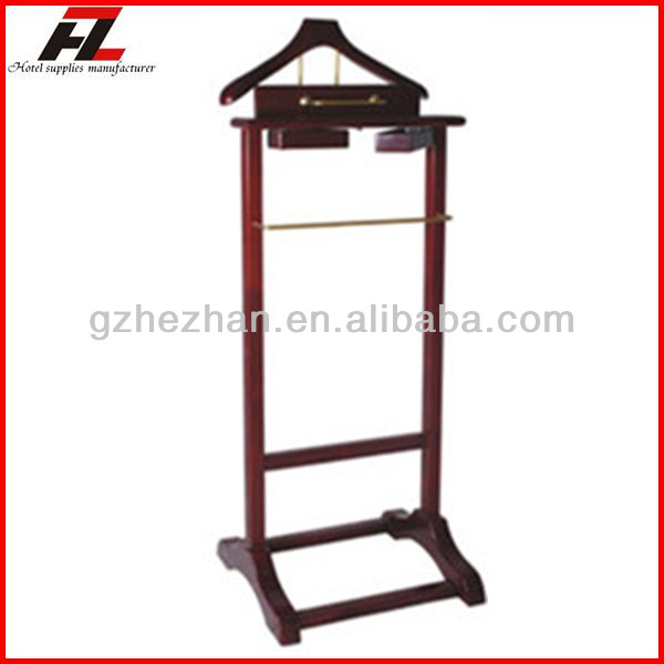 High Quality Solid Wood Men Valet Stands / Coat Stand for Hotel