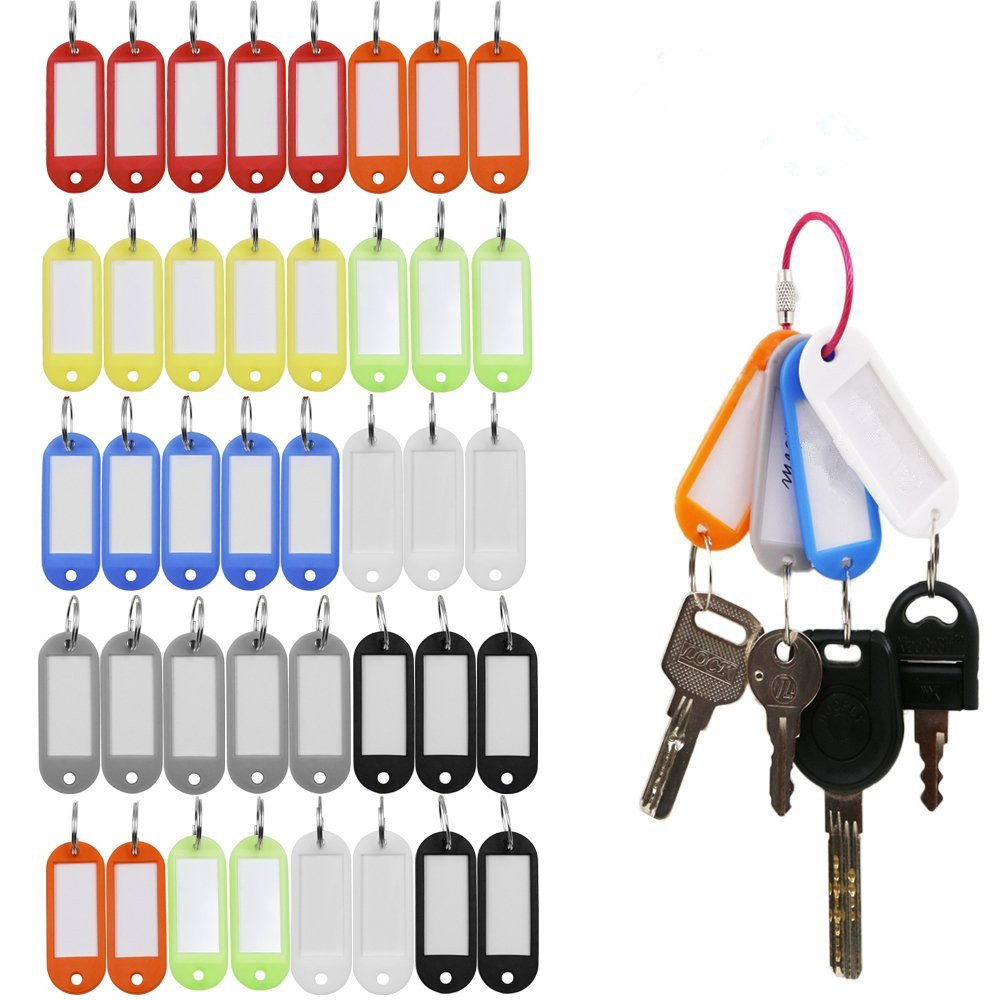 Cheap Wholesale Plastic Key Tags / ID Labels / Item Identifier With Split Ring For Key Chain