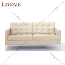 S08-2 Scandinavian <strong>modern</strong> white leather sofa