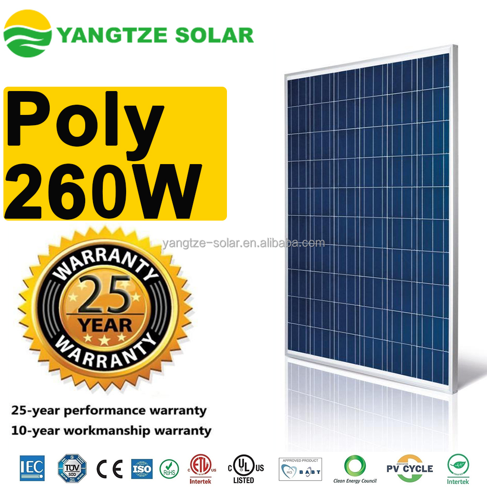 Hot sale high quality 260 watts energy solar panels in dubai