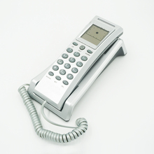 Slim telephone wall mounted corded ID phone